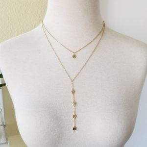 Baublebar Gold Dewdrop Layered Necklace